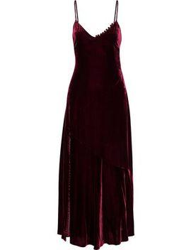 Flared Velvet Maxi Dress by Nicholas