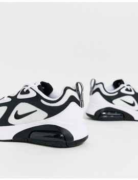 Nike White And Black Air Max 200 Trainers by Nike