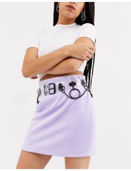 Asos Design Clear &Amp; Matt Black Multi Ring Waist And Hip Belt by Asos Design