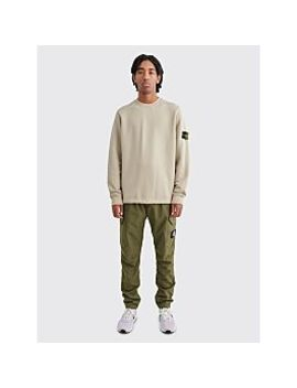 Stone Island Reflective Weave Ripstop Tc Cargo Pants Olive by Très Bien