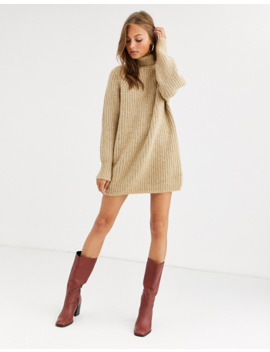 Asos Design Chunky Mini Dress With Roll Neck by Asos Design
