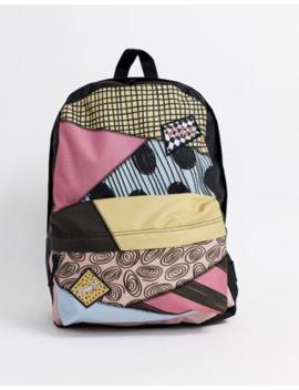 Vans X Disney Nightmare Before Christmas Sally Patchwork Realm Backpack In Multi by Vans