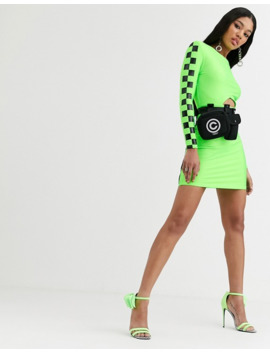 Asos Design X Christian Cowan Bodycon Dress With Removable Belt Bag by Asos Design