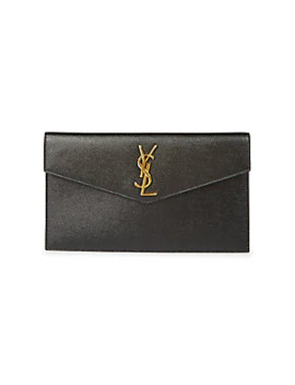 Upton Shiny Leather Pouch by Saint Laurent