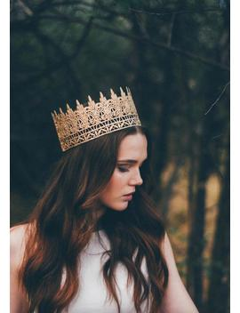 Jaden || Full Size Gold Lace Crown || Photography Prop|| Child Adult ||Custom Sizes|| Love Crush Exclusive by Etsy