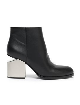 Bagi Cutout Paneled Metallic Leather Ankle Boots by Alexander Wang