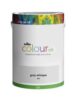 Wilko Grey Whisper Silk Emulsion Paint 5 L Wilko Grey Whisper Silk Emulsion Paint 5 L by Wilko