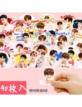 40pcs Creative Cute Self Made Exo Q Version Pretty Boys Scrapbooking Stickers /Decorative Sticker /Diy Craft Photo Albums by Ali Express.Com
