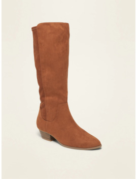 Tall Faux Suede Western Boots For Women by Old Navy