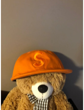Supreme Hat Cordura S Logo 6 Panel Orange Fw18 by Supreme  ×