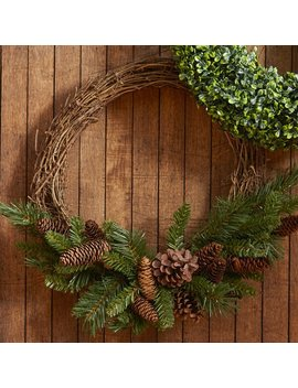 "Pine Cone Grapevine 16"" Wreath by Joss & Main"