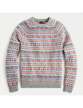 Fair Isle Lambswool Crewneck Sweater by J.Crew