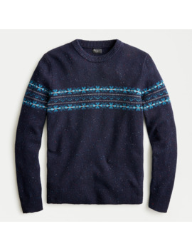 Fair Isle Donegal Crewneck Sweater by J.Crew