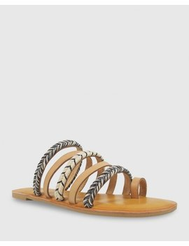 Fabiola Natural Leather Flat Sandal by Wittner