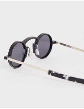 Spitfire Euph Round Sunglasses In Black by Spitfire