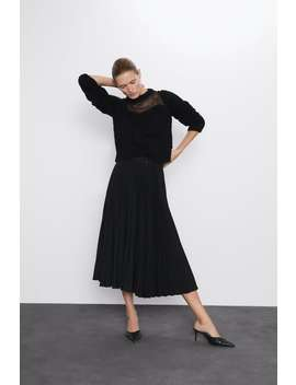 Jersey Cropped Combinado by Zara