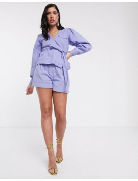 Asos Design Lilac Washed Short Co Ord by Asos Design