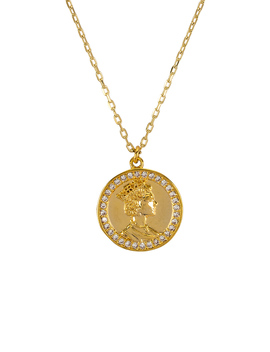 Warrior Pave Necklace by Shashi