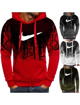 New Men Personality Printing Hoodies Outdoor Sport Hoodies & Sweatshirts Autumn Winter Sweater Pullover Hoodie by Wish