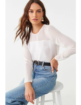 Chiffon Combo Top by Forever 21