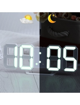 Led Digital Wall Clock With 3 Levels Brightness Alarm Clock Wall Hanging Clock by Wish