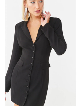 Buttoned Blazer Mini Dress by Forever 21
