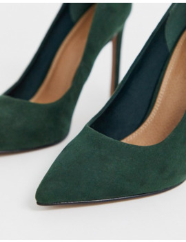 Asos Design Porto Pointed High Heeled Pumps In Forest Green by Asos Design