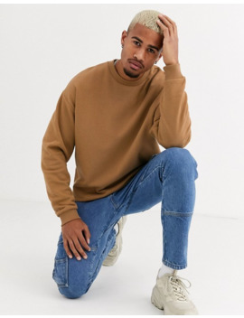 Asos Design – Braunes Oversized Sweatshirt by Asos