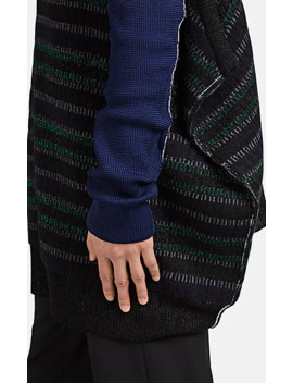 Sleeve Detailed One Shoulder Oversized Sweater by Raf Simons