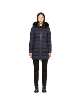 Navy Calla Down Coat by Mackage