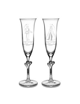 Cinderella And Prince Charming Glass Flute Set By Arribas   Personalizable | Shop Disney by Disney