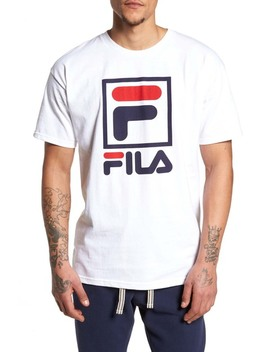 Stacked Logo T Shirt by Fila Usa