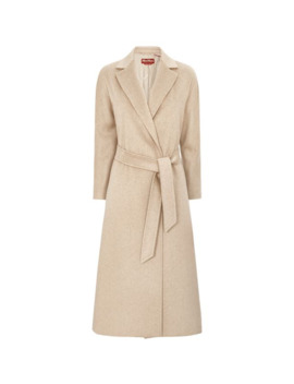 Cashmere Camel Wool Belted Coat by Max Mara