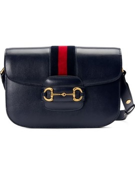 Small 1955 Horsebit Leather Shoulder Bag by Gucci