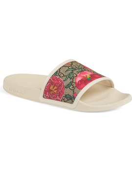 Pursuit Floral Gg Supreme Slide Sandal by Gucci