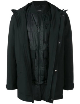 Layered Single Breasted Coat by Z Zegna