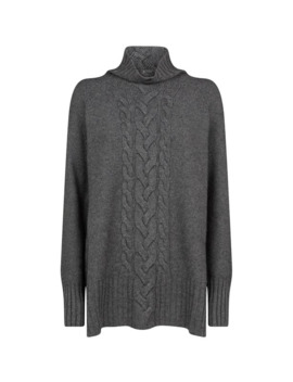 Cable Knit High Neck Sweater by Max Mara