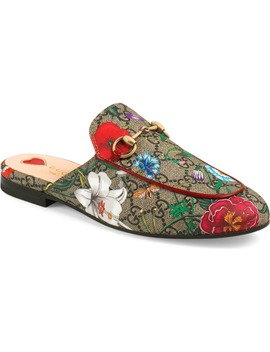 Princetown Floral Gg Supreme Loafer Mule by Gucci