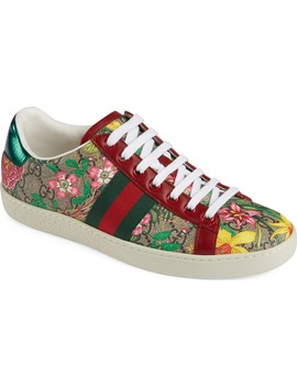 New Ace Gg Supreme Floral Sneaker by Gucci