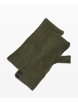 Crazy Cozy Fingerless Gloves New by Lululemon