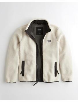 Mockneck Sherpa Jacket by Hollister