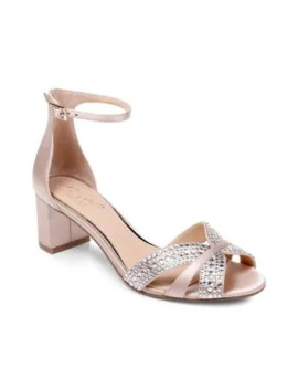 Sequoia Embellished Open Toe Heels by Jewel Badgley Mischka