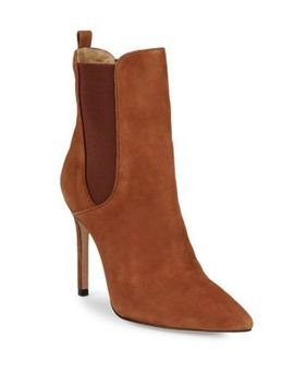 Schutz Side Gore Stiletto Heel Leather Bootie by Schutz