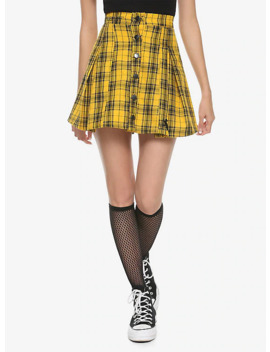 Harry Potter Hufflepuff Pleated Plaid Skirt by Her Universe