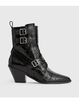 Alix Crocodile Boot by Allsaints