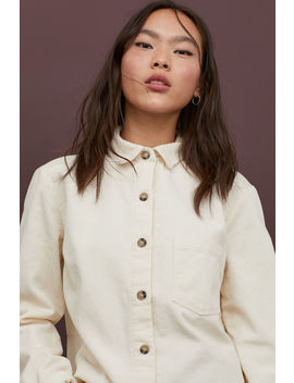 Corduroy Shirt Jacket by H&M