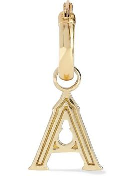 Alphabet Gold Plated Earring by Ellery