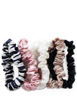 Midi Silk Scrunchies Pack Of 5 by Slip