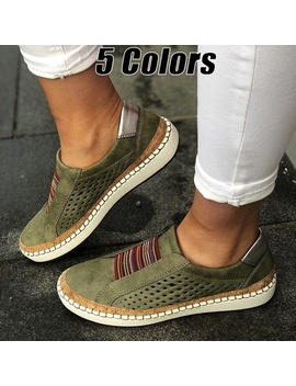 New Fashion Women Shoes Soft Leather Hollow Out Casual Breathable Women Sneakers by Wish
