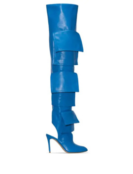 Multi Pocket 100mm Thigh High Boots by Natasha Zinko